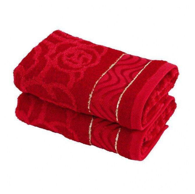Wellness Полотенце Комплимент универсальное 33х76 см красный