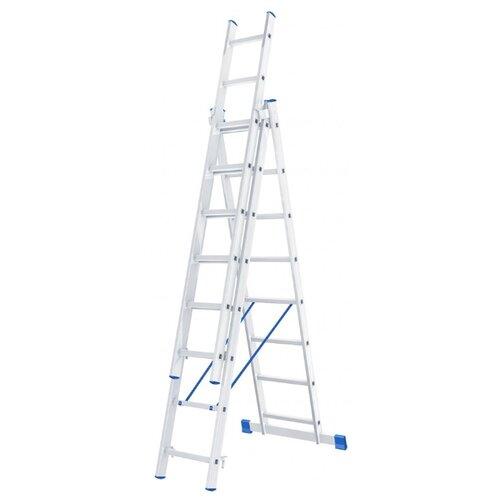 Лестница телескопическая 3-секционная Сибртех 97818 лестница телескопическая biber 98208