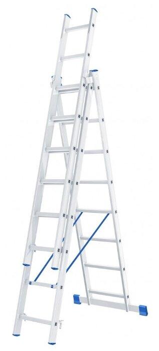 Лестница телескопическая 3-секционная Сибртех 97818
