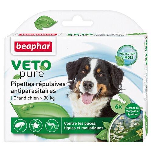 Beaphar капли от блох и клещей Veto pure для собак от 30 кг