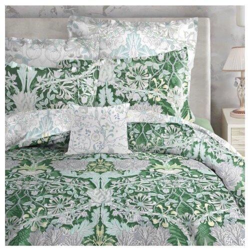 цена Постельное белье 2-спальное Mona Liza Alice, сатин garden green онлайн в 2017 году