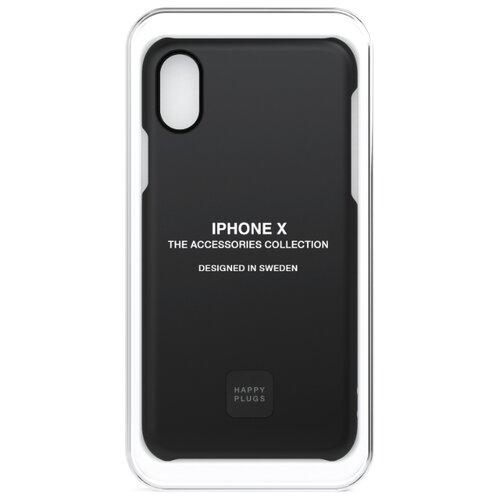 Чехол-накладка Happy Plugs 9167 + защитная пленка для Apple iPhone X/Xs black чехол накладка happy plugs 9160 защитная пленка для apple iphone x xs white marble