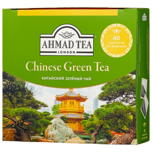 Фото - Чай зеленый Ahmad tea Chinese в пакетиках, 72 г, 40 шт. chinese ancient trees black tea leaves
