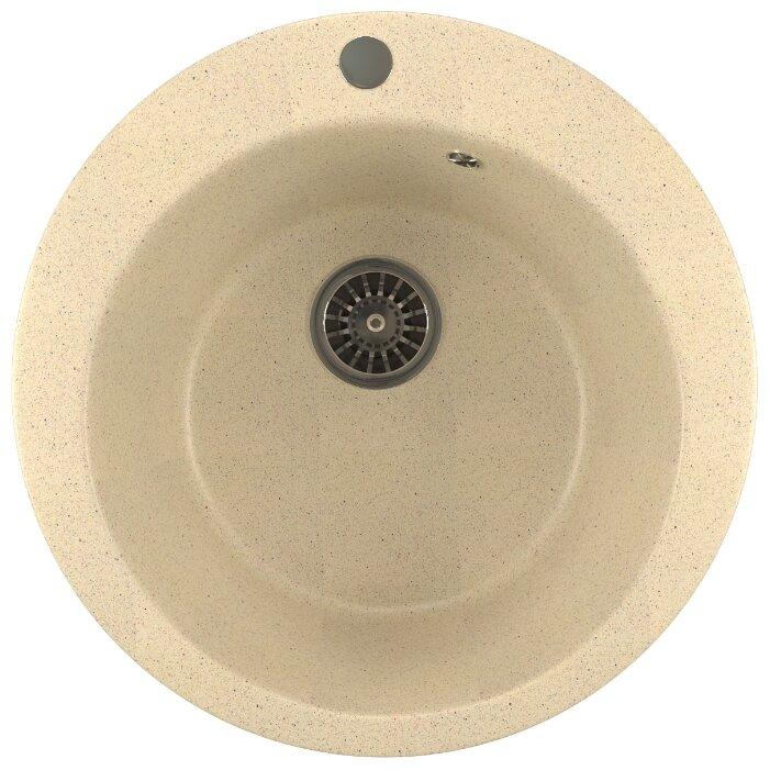 Врезная кухонная мойка Mixline ML-GM13 49.5х49.5см искусственный мрамор