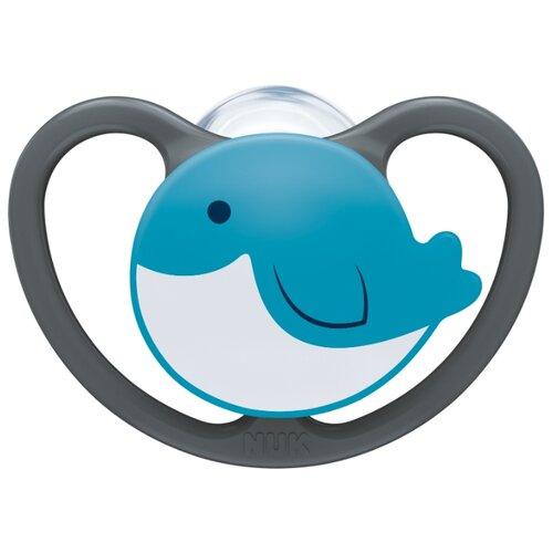 Купить Пустышка силиконовая ортодонтическая NUK Space 0-6 м (1 шт) кит, Пустышки и аксессуары