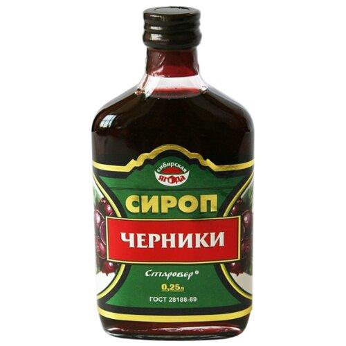 Сироп Алтай-Старовер Черники 0.25 л косметика зеленый алтай