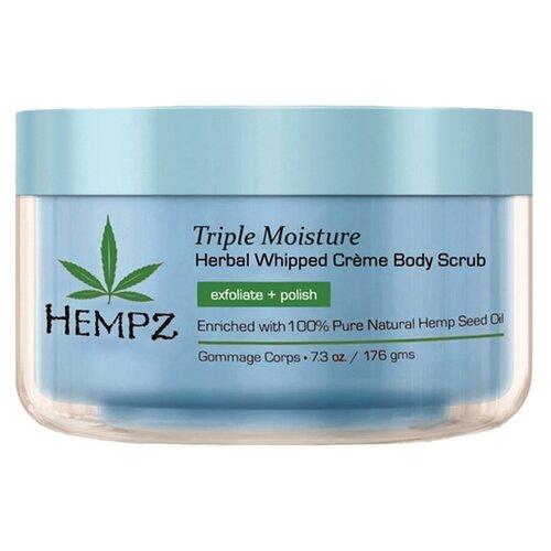 Hempz Скраб для тела Triple moisture, 176 г hempz triple moisture herbal whipped creme body scrub скраб для тела тройное увлажнение 176 гр