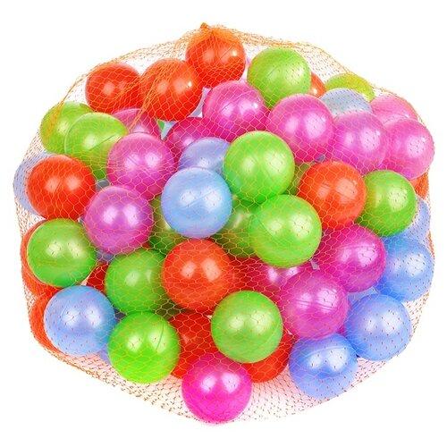 Шарики для сухих бассейнов Нордпласт 100 шт. 6 см (410/1) красный/зеленый/синий/фиолетовый