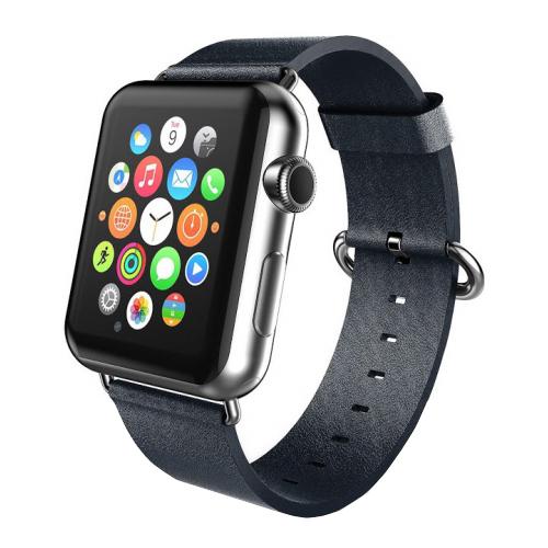 CARCAM Ремешок для Apple Watch 38mm PU Leather черный