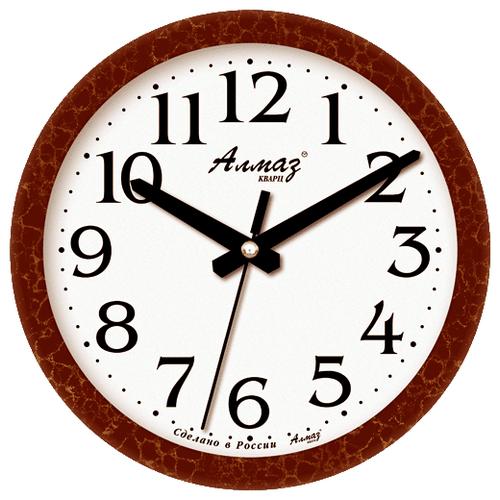 Часы настенные кварцевые Алмаз E13 коричневый