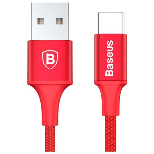 Кабель Baseus Rapid Series USB - USB Type-C (CATSU) 2 м красный