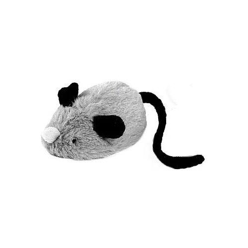 Игрушка для кошек GiGwi Cat Toys Мышка со звуковым чипом (75240) серый/черный