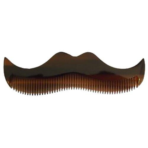 Расческа для усов и бороды Morgan\'s Moustache Comb Amber