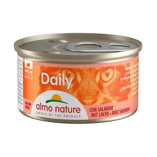 Фото - Корм для кошек Almo Nature Daily Menu с лососем 85 г консервы для кошек almo nature нежный мусс с уткой 85 г