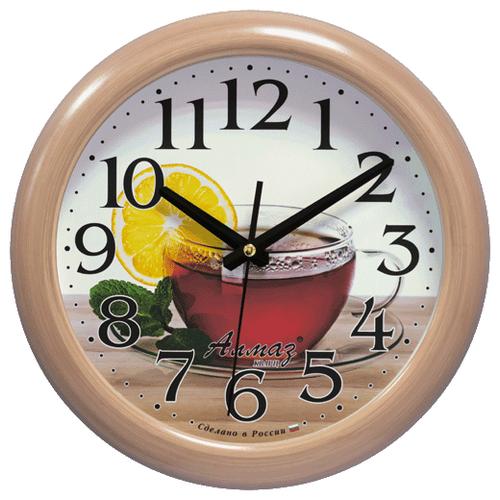 Часы настенные кварцевые Алмаз H68 бежевый