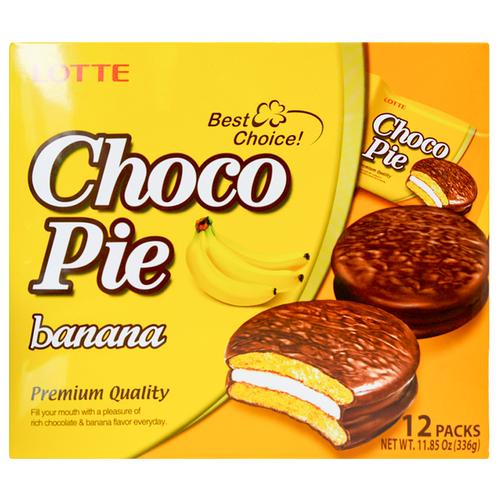 Пирожное Lotte Confectionery Choco Pie Banana 336 г