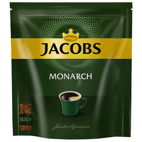 цена Кофе растворимый Jacobs Monarch, пакет, 500 г онлайн в 2017 году