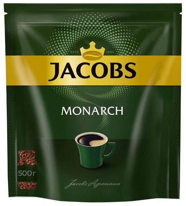 Купить Кофе растворимый Jacobs Monarch, пакет, 500 г по низкой цене с доставкой из маркетплейса Беру