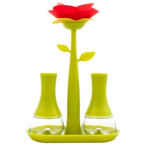 Vigar Набор емкостей для соли и перца Rose 5337/5338 зеленый