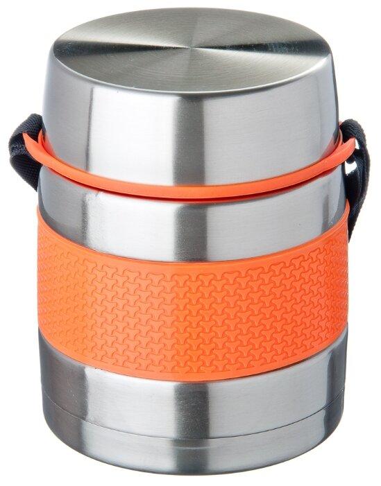 Термос для еды Satoshi Kitchenware Ямато 841629 (1 л) серебристый/оранжевый