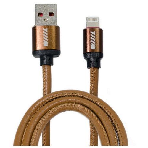 Кабель WIIIX USB - Lightning (CB810-2A-U8-LR-10) 1 м кофейный