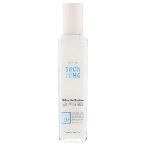 Etude House Soon Jung 10-Free Moist Emulsion Гипоаллергенная эмульсия для чувствительной кожи лица, 120 мл