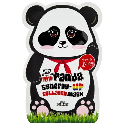 Urban Dollkiss коллагеновая маска My panda synergy up collagen mask pack, 30 г маска deoproce color synergy effect sheet mask yellow green