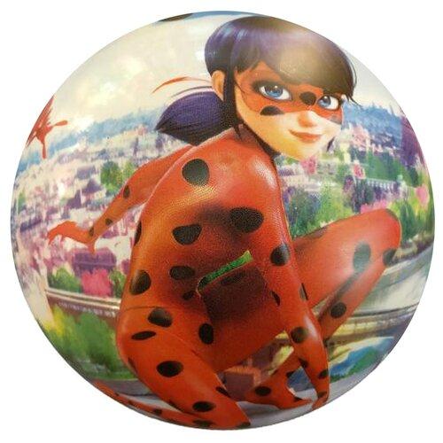 Купить Мяч Играем вместе Леди Баг, 23 см, красный/зеленый, Мячи и прыгуны