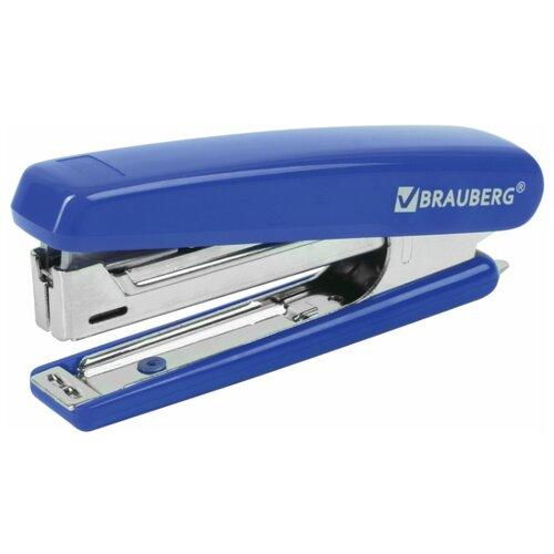 BRAUBERG Степлер Classic, для скоб №10 синий степлер stand up mini 10 синий