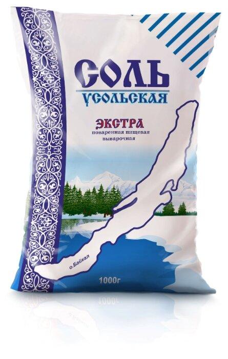 Руссоль соль поваренная пищевая выварочная Усольская, экстра, 1000 г