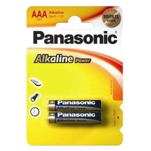 Купить Батарейка Panasonic Alkaline Power AAA/LR03 2 шт блистер