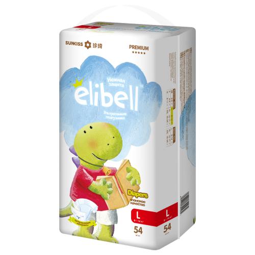 Купить ELIBELL подгузники L (9-14 кг) 54 шт., Подгузники
