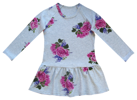 Платье ПАНДА дети размер 86, серый