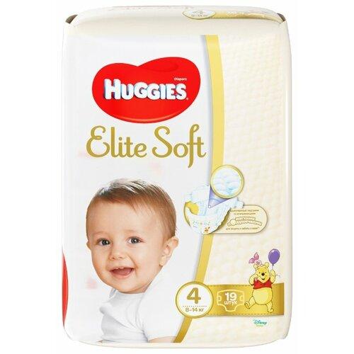 Купить Huggies подгузники Elite Soft 4 (8-14 кг), 19 шт., Подгузники