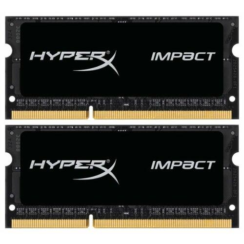 Купить Оперативная память HyperX Impact DDR3L 1866 (PC 14900) SODIMM 204 pin, 4 ГБ 2 шт. 1.35 В, CL 11, HX318LS11IBK2/8
