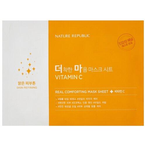 NATURE REPUBLIC тканевая маска Real Comforting Витамин C, 24 г