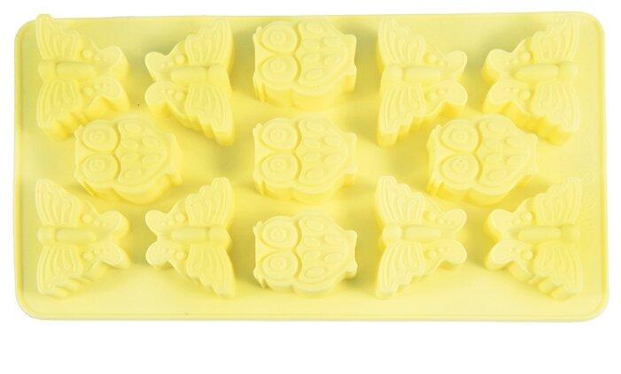 Форма для шоколада Fissman Бабочки и совята, 13 ячеек