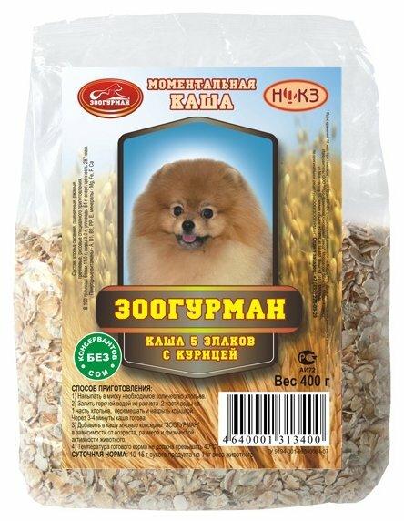 Корм для собак Зоогурман 5 злаков курица 400г