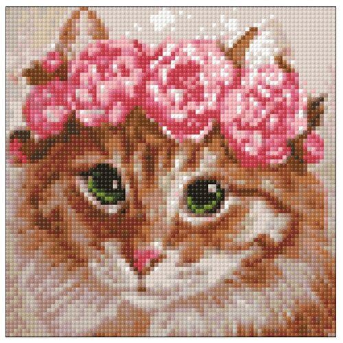 Гранни Набор алмазной вышивки Весенняя кошка (Ag2275) 20х20 см