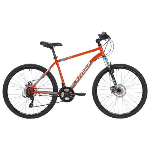 Горный (MTB) велосипед Stinger Caiman D 26 (2019) оранжевый 20 (требует финальной сборки) велосипед stinger 26 banzai 20 синий 26 sfv banzai 20 bl7