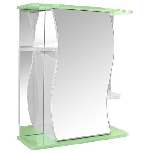Шкаф-зеркало для ванной Mixline Венеция-60, (ШхГхВ): 60х24х69 см, зеленый