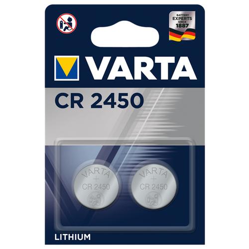 Батарейка VARTA CR2450 2 шт блистер батарейка varta energy d lr20 2 шт блистер