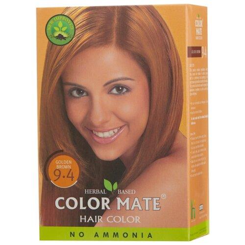 Хна Color Mate травяная краска для волос, тон 9.4 golden brown, 75 г краска для волос хна купить