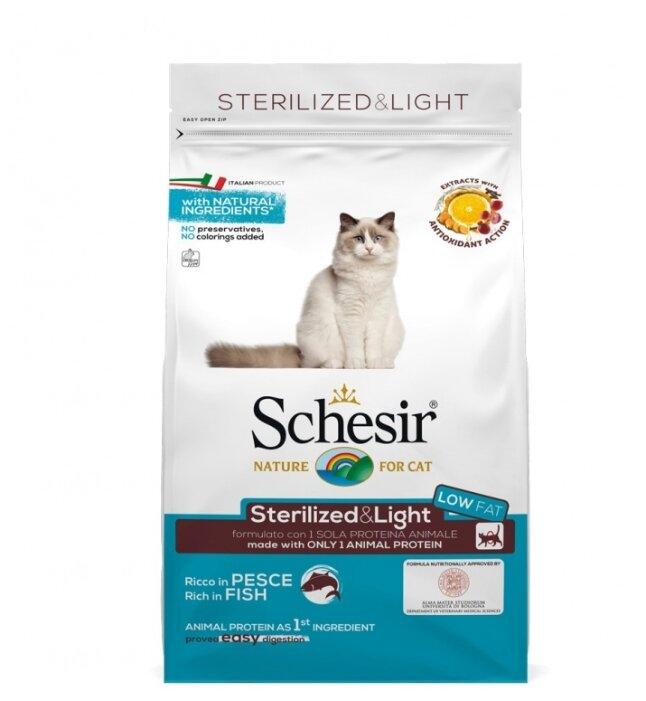 Корм для стерилизованных кошек Schesir с рыбой