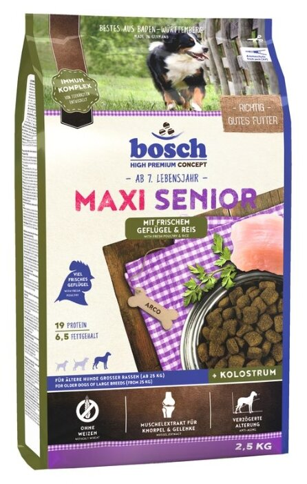 Корм для пожилых собак Bosch Senior (для крупных пород)
