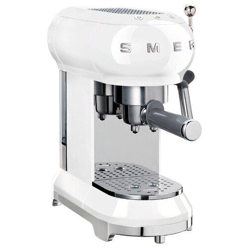 Кофеварка рожковая smeg ECF01 белый