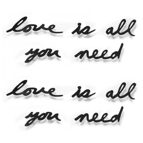 "Надпись настенная Umbra ""Love is all you need"", металлическая"