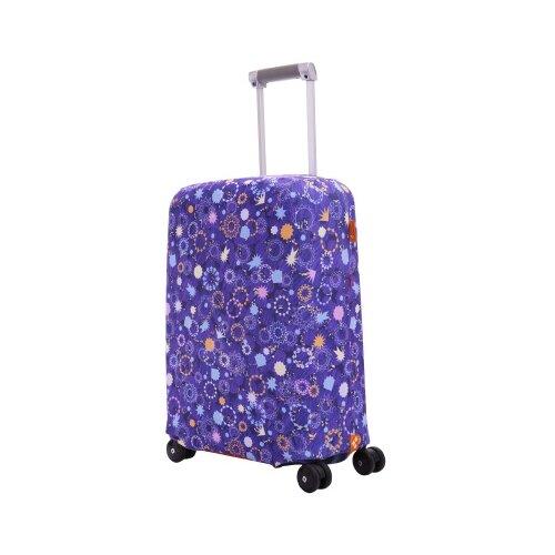 Чехол для чемодана ROUTEMARK «Искры и блестки» ART.LEBEDEV SP310 S, фиолетовый чехол для чемодана routemark искры и блестки art lebedev sp310 s фиолетовый