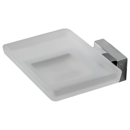 Мыльница Bath Plus Bruklin BR-86008 серебристый/белый мыльница bath plus bath plus mp002xu02qo3