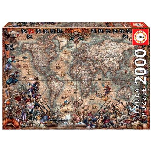 Купить Пазл Educa Пиратская карта (18008), элементов: 2000 шт., Пазлы